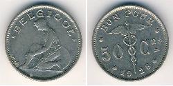50 Sent Belgium Nickel