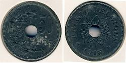 50 Sent Belgium Zinc