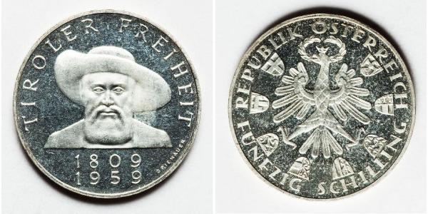 50 Shilling 奥地利 銀