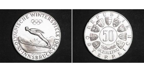 50 Shilling Republic of Austria (1955 - ) / Ååstenrik Argent