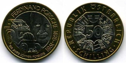 50 Shilling Republik Österreich (1955 - ) Bimetall