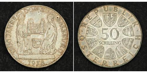50 Shilling Republic of Austria (1955 - ) Plata