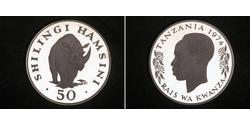 50 Shilling Tansania Silber