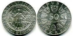 50 Shilling Republic of Austria (1955 - ) Silver