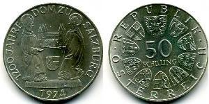 50 Shilling Republic of Austria (1955 - ) Silver