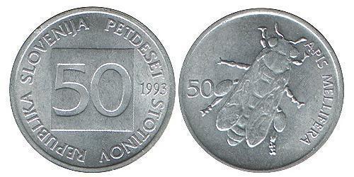 50 Stotinka Slovenia Alluminio