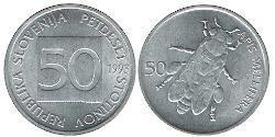 50 Stotinka Slovenia Aluminium