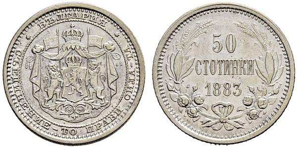 50 Stotinka Bulgarien Silber