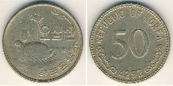 50 Won South Korea Brass/Nickel