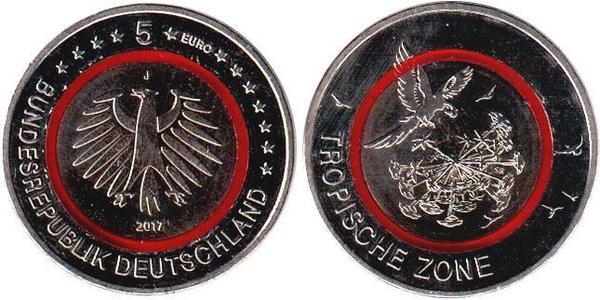 5 Євро Федеративна Республіка Німеччина (1990 - ) Мідь