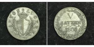 5 Батц Швейцария Серебро