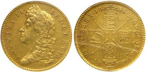 5 Гинея Королевство Англия (927-1649,1660-1707) Золото Яков II (1633-1701)