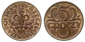 5 Грош Польська республіка (1918 - 1939) Мідь Abdullah II of Jordan (1962 - )