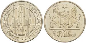 5 Гульден Gdansk (1920-1939) Серебро