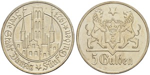 5 Гульден Gdansk (1920-1939) Срібло