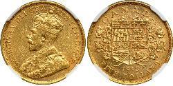 5 Долар Канада Золото Георг V (1865-1936)