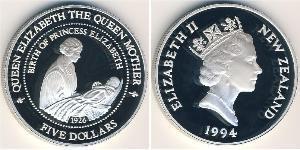 5 Долар Нова Зеландія Срібло