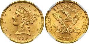 5 Доллар США (1776 - ) Золото