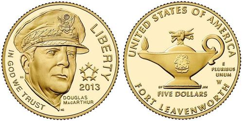 5 Доллар США (1776 - ) Золото Douglas MacArthur (1880 - 1964)