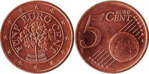 5 Евроцент Австрийская Республика(1955 - ) Медь