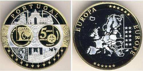5 Евро Португалия Биметалл