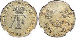 5 Ере Швеція Срібло Adolf Frederick of Sweden (1710 - 1771)