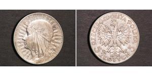 5 Злотий Польська республіка (1918 - 1939) Срібло Ян III Собеський (1629-1696)