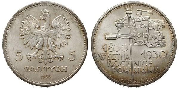5 Злотий Польська республіка (1918 - 1939) Срібло