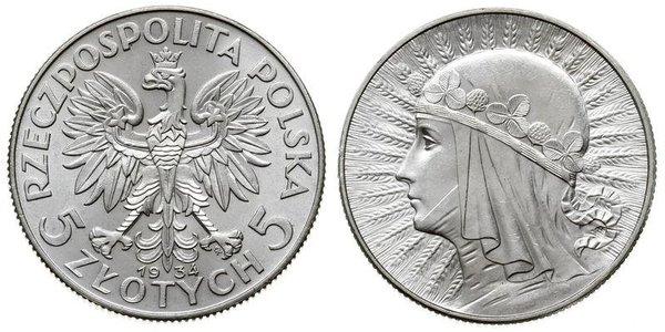 5 Злотый Польская Республика (1918 - 1939) Серебро Ян III Собеский (1629-1696)