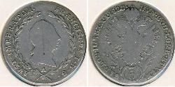 5 Крейцер Австрійська імперія (1804-1867) Срібло Francis II, Holy Roman Emperor (1768 - 1835)