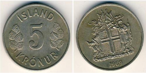5 Крона Исландия