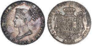 5 Лира Пармское герцогство (1545 - 1859) / Италия Серебро Мария-Луиза Австрийская