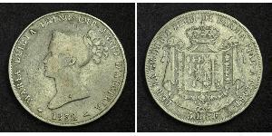 5 Ліра https://en.wikipedia.org/wiki/Duchy_of_Parma (1545 - 1859) / Італія Срібло Марія-Луїза Австрійська