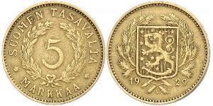 5 Марка Финляндия (1917 - ) Латунь