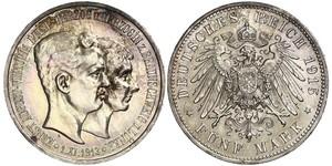 5 Марка Брауншвейг (герцогство) (1815 - 1918) Серебро Эрнст Август Брауншвейгский (1887 - 1953)