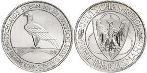 5 Марка Веймарская республика (1918-1933) Серебро
