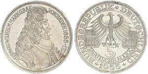 5 Марка Германия Серебро