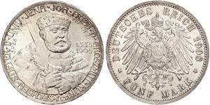 5 Марка Саксен-Веймар-Эйзенах (1809 - 1918) Серебро