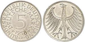 5 Марка ФРГ (1949-1990) Серебро