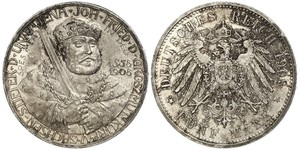 5 Марка Герцогство Саксен-Веймар-Ейзенахське (1809 - 1918) Срібло