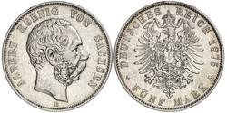 5 Марка Королівство Саксонія (1806 - 1918) Срібло Albert of Saxony