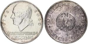 5 Марка Німецька імперія (1871-1918) Срібло Готгольд Ефраїм Лессінг