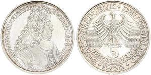 5 Марка Німеччина Срібло