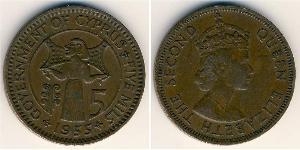 5 Миль Кипр (1960 - ) Бронза Елизавета II (1926-)