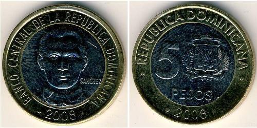 5 Песо Доминиканская Республика Биметалл