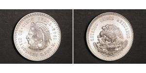 5 Песо Мексика Серебро