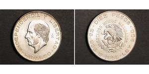 5 Песо Second Federal Republic of Mexico (1846 - 1863) Серебро Miguel Hidalgo