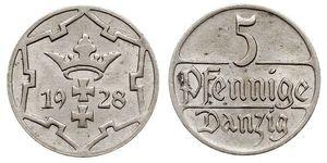 5 Пфенниг Gdansk (1920-1939)