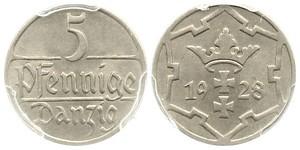 5 Пфеніг Gdansk (1920-1939)