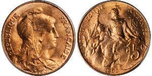 5 Сантім Третя французька республіка (1870-1940)  Бронза